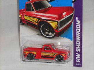 Hot Wheels 2013 HW Showroom Hot Trucks Custom 69 Chevy Pickup Red
