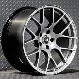 Enkei Raijin Rims Hyper Silver 18x8 5x100 45 Set of 4 Wheels