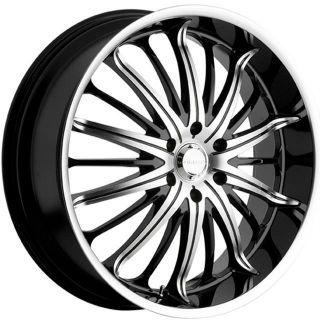 22 inch Akuza Belle Black Wheels Rims 5x4 5 5x114 3 45