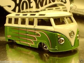 100 Hot Wheels Volkswagen Green VW Microbus
