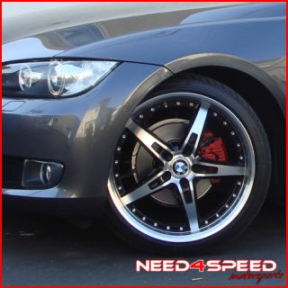 19 BMW E46 325 330 MRR GT5 Staggered Wheels Rims