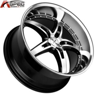 MRR GT5 19x9 5 5x114 3 45 Black Machined Rims Wheels