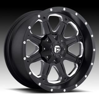 MHT Fuel Boost 17x9 Black Wheels All Trucks SUV
