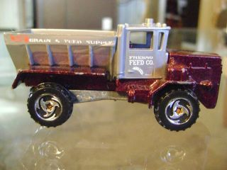 VINTAGE 1983 DIE CAST MATTEL HOT WHEELS OSHKOSH SNOW PLOW FRESNO FEED