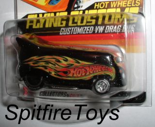 HOT WHEELS RLC HWC FLYING CUSTOMS DAVE CHANG BLACK VW DRAG BUS FLAMES