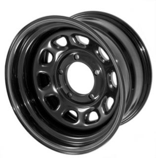15500 02 Rugged Ridge Black Steel Wheels 15X10 5x4 5 Jeep Wrangler SET