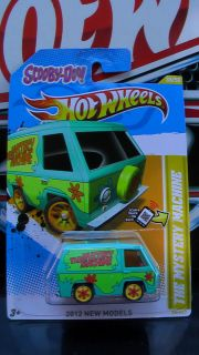 HOT WHEELS 2012 THE MISTERY MACHINE CUSTOM SUPER REAL RIDERS NEW