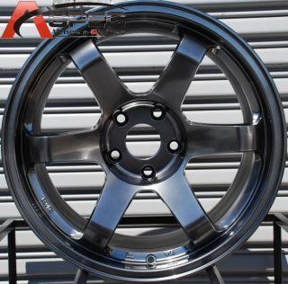 17x9 Rota Grid 5x100 42 Hyper Black Wheel Fits WRX Legacy Outback