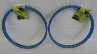 BMX Generator BMX Rims Hoops Wheels Wheel Set Blue 48 Hole Set
