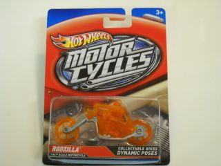 2012 Hot Wheels Motorcycles 1 64 Rodzilla Orange Clear Ghost Riders