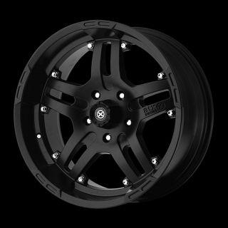 8x6 5 Silverado Avalanche RAM 2500 Hummer H2 Black Wheels Rims