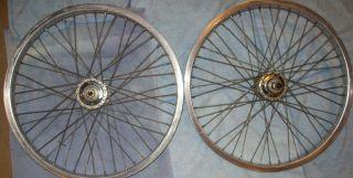 Old School 48 Hole 20 inch BMX Freestyle Rims Wheels Wheelset