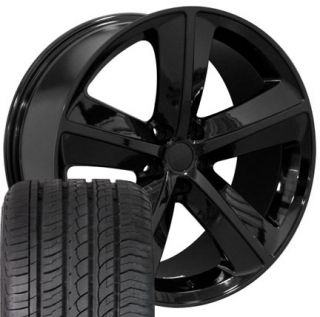20 Black Challenger SRT Wheels Set of 4 Rims 4 Tires Fit Dodge