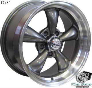 17x8 9 Gray Aluminum Rev Classic 100 Wheels Pontiac Firebird Trans Am