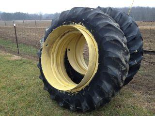 John Deere Tractor T Rail Dual Wheels 18 4 x 38