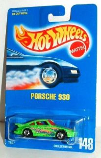 Hot Wheels Porsche 930 Bright Green with Glitter Mint on Card
