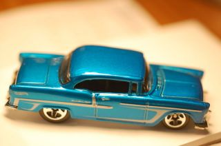 2011 Hot Wheels 55 Chevy Blue from New Chevy 5 Pack Mint Loose