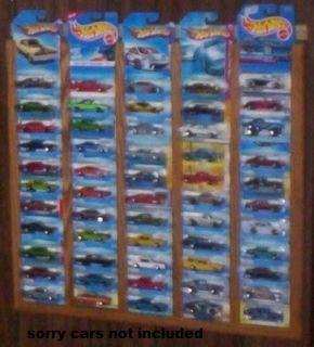 55 Carded Oak Hot Wheels Matchbox Display Rack Frame Showcase 1
