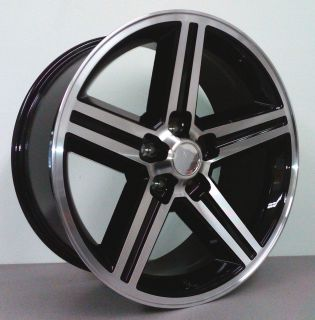 IROC 22 inch Wheels Rims Machined w Black 5 Lug Chevy Early Truck 5x5