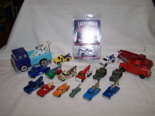 18 PC Mixed Tow Truck Lot Matchbox Hot Wheels Marx Corgi Etc