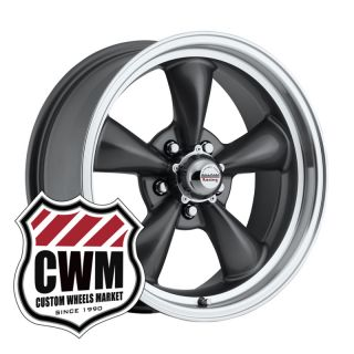 Charcoal Gray Wheels Rims 5x4 75 lug pattern for Chevy Bel Air 53 70