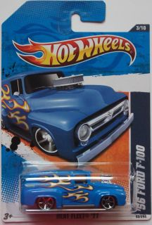 2011 Hot Wheels 56 Ford F100 Col 93 Blue Version