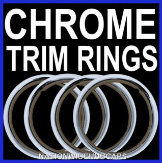 New Chrome Wheel Trim Rings Beauty Glamour Ring Rim Bands Steel Rims