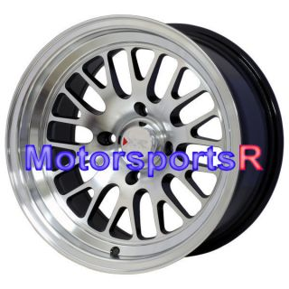 XXR 531 Machine Black ET 0 Offset Wheels Rims 4x114 3 Old School Drift