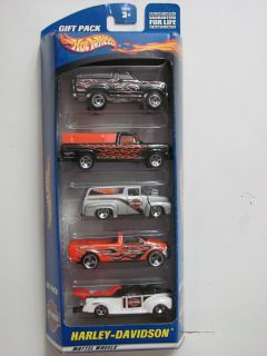 HOT WHEELS 2000 HARLEY DAVIDSON 1979 F 150 56 FORD BRONCO PICKUP 5 CAR
