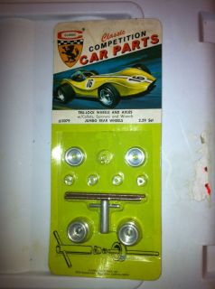 1960s Classic 1 24 Scale Slot Car Tru Lock Wheels and Axels