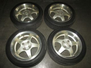 Civic CRX Acura Integra JDM LorBer 4x100 15x7 JJ Wheels Rims Wheel Rim