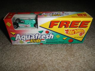 Hot Wheels Diecast Indy Car in An Aquafresh Toothpaste Package