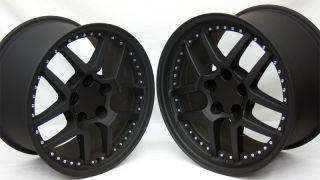 Flat Black Corvette Motorsport Z06 Wheels 17x9 5 18x10 5 ZO6 Camaro 18