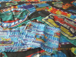 Hot Wheels Race Car Twin Sheet Comforter Pillow Case 5 Piece Set 1997