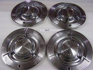 1961 61 Pontiac Spinner Hubcaps Hub Caps Near Set of 4 Y 6