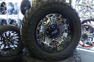 20 Moto Metal 909 Skull wheels 305 55 20 33 Nitto Trail Grappler Tires