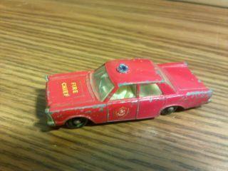 1966 Matchbox Regular Wheels Ford Galaxie Fire Chief Car 59 3