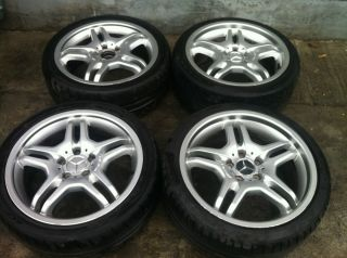 W203 C55 CLK AMG 18 Factory Wheels Wheel Tire Rims Set Nice
