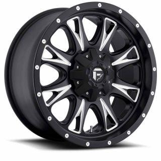20 Fuel Throttle Wheels Toyo AT2 Tires 8x6 5 8 Lug Chevy GM Dodge HD