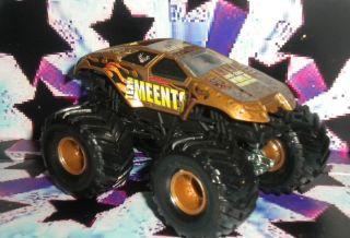 Team Meents RARE Metal Base Monster Jam Truck Hot Wheels 1 64