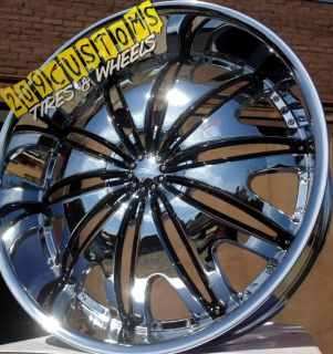 22 inch Chrome Velocity Wheels Rims Tires VW820 5x115 22x9 5 Chrysler