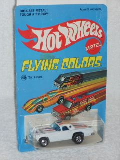 Hot Wheels Late 70s Flying Colors 49 57 T Bird White w Red Blue