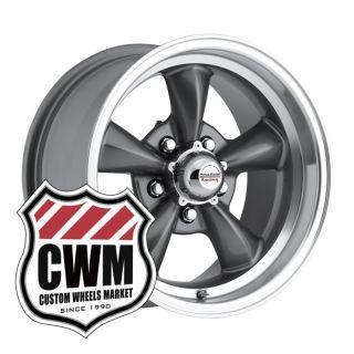 Charcoal Gray Wheels Rims 5x4 75 lug pattern for Chevy El Camino 64 81