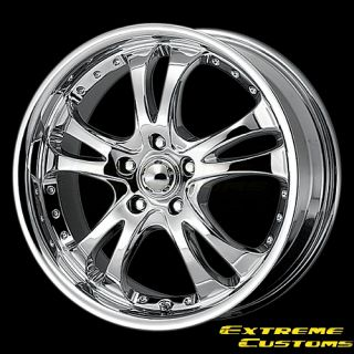 Racing AR683 Casino Chrome 4 5 Lug Wheels Rims Free Lugs