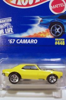 Hot Wheels 67 Camaro Collector 448 Mfg 1995