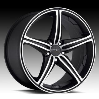 18 Wheels Rims FOOSE Speed Black Machined Staggered Sebring Mustang