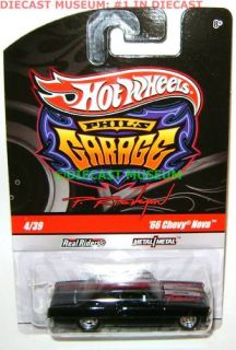 66 1966 Chevy Nova Phils Garage Hot Wheels 2010