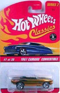 Hot Wheels 67 Camaro Convertible Classics Series 2 orange redline 2005