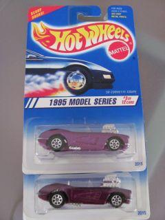 Hot Wheels 1995 58 Corvette Coupe Purple Color Varia