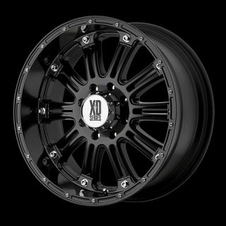 GLOSS BLACK WITH 275 65 18 NITTO TERRA GRAPPLER AT TIRES WHEELS RIMS